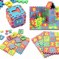 Hot 36pcs Alphabet & Numerals Baby Kids Play Mat Educational Toy Soft Foam Mats