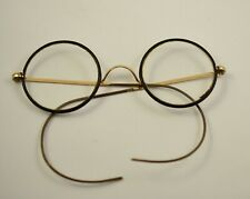 Rare Antique Vintage Old Wide Round Diopter Glasses