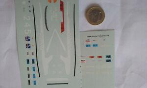 decalcomanie flash4 2 decos voiture police polizia italienne alfa 75 et +  1/43