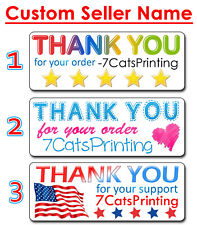 30 Thank You For Your Order Purchase Stickers Small Business Custom Ebay Name