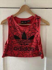 Adidas X Pharrell Wiliiams Red Sleeveless Crop Top Size 8