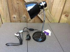 'NEW' TESCO DESK/TABLE/OFFICE/READING LIGHT/LAMP FLEXIBLE ARM BLACK
