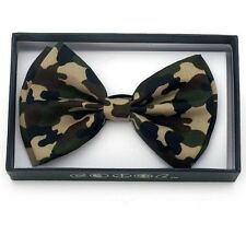 New Unisex  Camouflage Bow Ties Bowtie Camo Hunting
