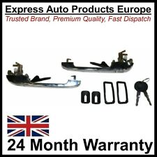 Chrome Front Door Handle Set with Keys VW Golf MK1 MK2 Left & RIGHT PAIR