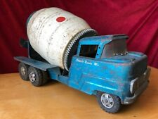 Vintage 1960 Structo Cement Ready Mix blue Concrete Kids Toy Truck Ford cab coe