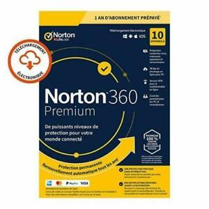 Norton 360 Premium 2021 10 App 10 PC 1 an PC 2020 PC MAC Internet Security FR EU