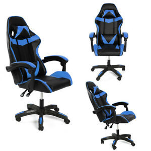 Swivel Racing Gaming Chairs Office Executive Recliner PC Computer Desk Chair