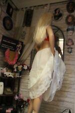 magnifique  jupon nylon vintage de mariage  unterkleid full slip REF1556