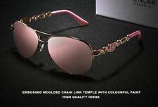 UV400 Protection Polarized Pink Women's Designer Sunglasses