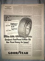 "1954 7.5""x10.5"" Vintage Goodyear Truck Tires Advertisement Original Mag Print AD"