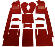 Dark red velours carpet kit for Jaguar MK 2 1959-1969