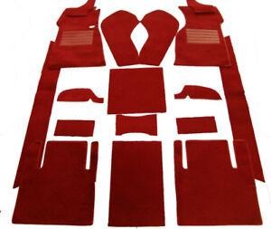 Dark red velours carpet kit for Jaguar MK 2 1959-1969