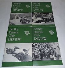 Bentley Drivers Club Review 1982, 4 Issues, 143 Feb, 144 May, 145 Aug, 146 Nov