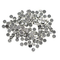 100x Celtic Knot Round Spacer Beads Charm Tibetan Silver Beads DIY Jewellery