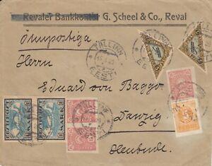 Estland, Estonia Eisflugbrief vom 15.3.1920 nach Danzig