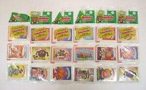 Lot of 6 Vintage GARBAGE PAIL KIDS Sticker Card Rack Packs Topps 1986 144 Cards