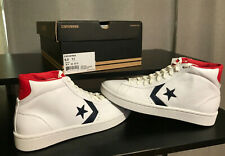 Converse Men's Shoes Pro Leather Plus Mid Mid White/Blue/Red Sneakers