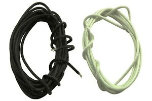Cloth covered wire for single coil building and electronic guitar wiring