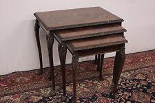 Bellissimo tris tavolini in legno estraibili / inglese / wood / english / old.
