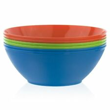 Fresco 10-inch Plastic Mixing and Serving Bowls | Set of 6 in 3 Assorted Co