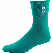 NBA Official Logo High Profile Quarter Fashion Socks - Aqua Size Large 8-13 FBF