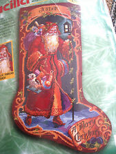Bucilla Holiday Needlepoint Stocking Kit,FATHER CHRISTMAS,Rossi,18 Mesh,60769