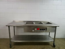 Soup Well Hfw-3 3 Compartment Warmer w/ Table Tested 208/240v 3 phase