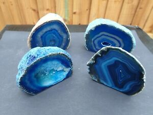 Beautiful Brazilian Blue Agate Quartzs