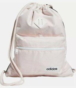 adidas Women/Girls Classic 3S Pink Tint/White Sackpack/Drawstring Backpack - NWT