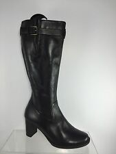 Ecco Womens Black Leather Knee Boots 40