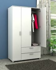 3 Door + 2 Drawer Wardrobe Matt White Finish