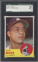 1963 Topps baseball card Norm Bass Kansas City Athletics SGC 96 Mint 9 a blazer!