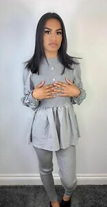 Grey rouched sleeve laticia co ord