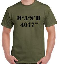 MASH 4077th Mens Retro T-Shirt TV Show Programme US Marines Medics Fancy Dress