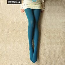 Women transparent Tight Pantyhose magenta color Stocking Lake blue NightLife
