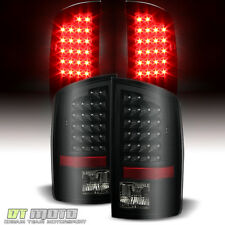 Black Smoked 07-08 Dodge Ram 1500/07-09 2500/3500 LED Tail Lights Left+Right