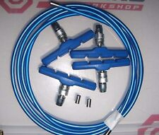 CLARKS - BLUE BRAKE OUTER CABLE - 2 METRES and V-BRAKE BLOCKS **NEW**