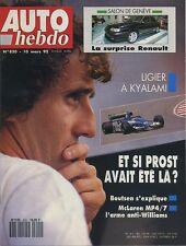 AUTO HEBDO n°820 du 10 Mars 1992 BMW 525iX