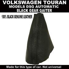 VW TOURAN DSG AUTOMATIC GEAR GAITER COVER GENUINE BLACK LEATHER