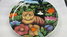 Vintage Martin Leman Decorative Plate BASIL and CLARISSA Dept. 56 Cats Garden
