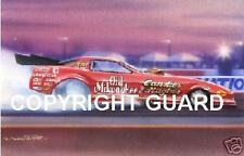 """Old Red"" Candies&Hughes 1986Trans Am L.E.P. Drag Racing Art Print"