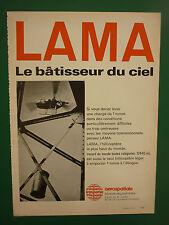 4/1973 PUB AEROSPATIALE HELICOPTERE LAMA RECORD DU MONDE HELI UNION ORIGINAL AD
