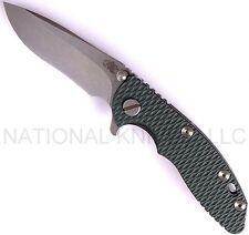 """Hinderer Knives XM-18 Recurve Knife, Stonewashed 3"""" Blade, Dark Green G10 -Dealr"""