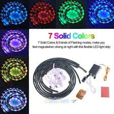 "48'' & 36"" 7 Color LED Under Car Glow Underbody System Neon Light Strip Kit IP68"