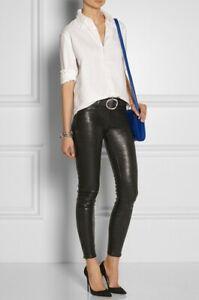 J Brand L8001 Black Mid Rise Leather Skinny Pants, Size 27, Retail $1095.00