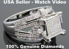 .68 CARAT WOMENS LADIES WHITE GOLD FINISH DIAMOND ENGAGEMENT BRIDAL WEDDING RING