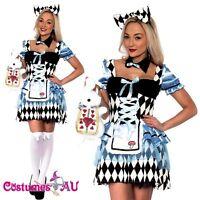 Ladies Alice in Wonderland Costume Disney Fairytale Book Week Adults Fancy Dress
