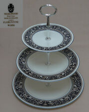 "Wedgwood ""Florentine"" (Dark Blue, W1956) THREE TIER CAKE STAND"