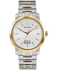 Bulova Men's 98B214 Quartz Silver Dial Two Tone Dress Watch