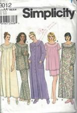 Simplicity 9012 Sleepwear Pajamas Nightgown & Robe Size Medium 36-38 in Bust